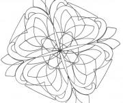 Coloriage Mandalas Fleurs magnifique à colorier