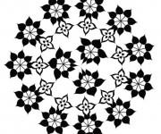 Coloriage Mandalas Fleurs maternelle