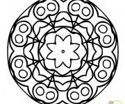 Coloriage Mandalas Fleurs pour adulte