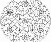 Coloriage Mandalas Fleurs pour Décoration