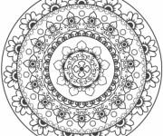 Coloriage Mandalas Fleurs pour se détendre