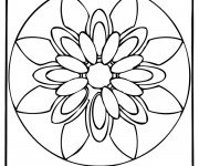Coloriage Mandalas Fleurs simple à décorer