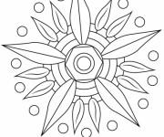 Coloriage Mandalas Fleurs simplifié