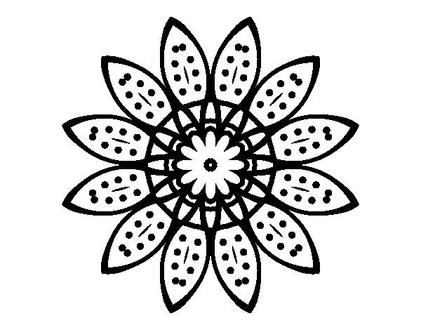 Coloriage et dessins gratuits Mandalas Fleurs végétation à imprimer