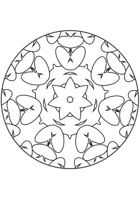 Coloriage et dessins gratuits Superbe Mandalas Fleurs à imprimer