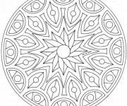 Coloriage dessin  Adulte Mandala 46
