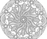 Coloriage dessin  Adulte Mandala 9