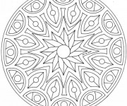 Coloriage Adulte Mandala Décoration