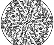 Coloriage et dessins gratuit Arbre Mandala Difficile à imprimer