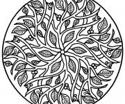 Coloriage Arbre Mandala Difficile