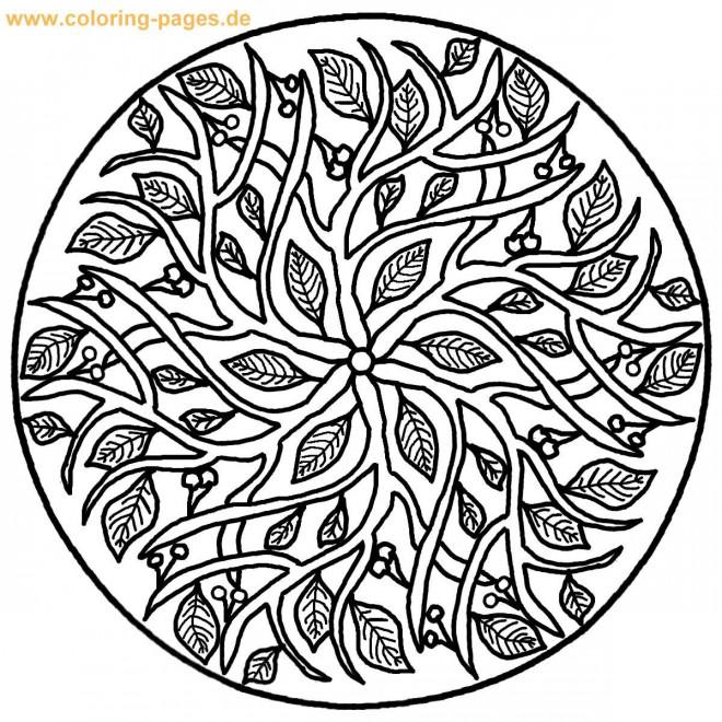 Coloriage et dessins gratuits Arbre Mandala Difficile à imprimer