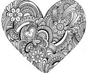 Coloriage Coeurs et Amour Adulte