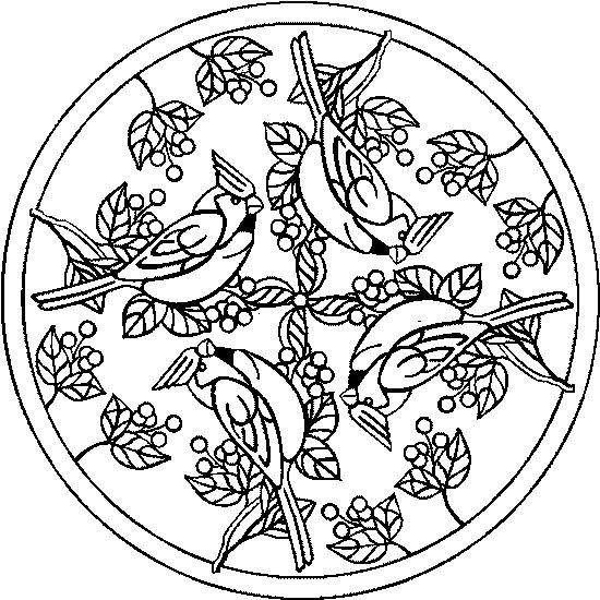 Coloriage et dessins gratuits Mandala Animaux à imprimer