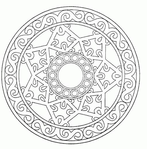Coloriage Mandala Anti Stress Dessin Gratuit A Imprimer