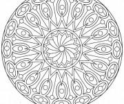 Coloriage et dessins gratuit Mandala Art stylisé à imprimer