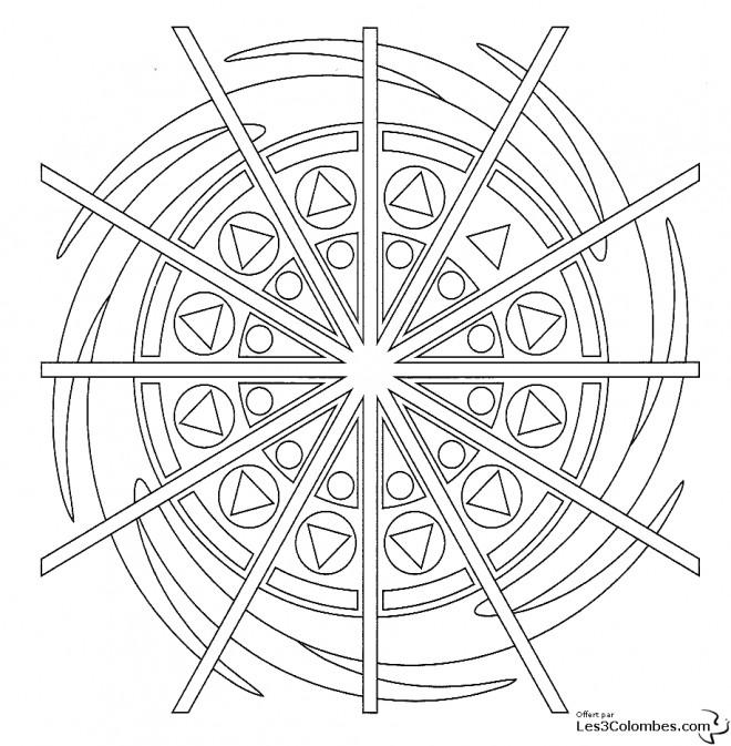 Coloriage et dessins gratuits Mandala Artistique à imprimer