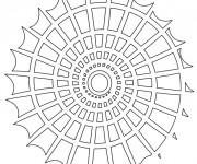 Coloriage et dessins gratuit Mandala Coquillage En Ligne à imprimer