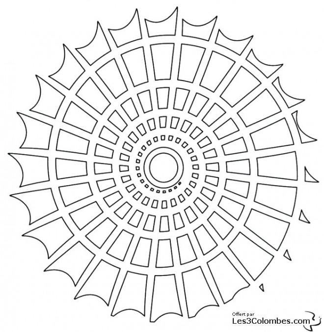 Coloriage et dessins gratuits Mandala Coquillage En Ligne à imprimer