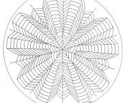 Coloriage dessin  Mandala Difficile 11
