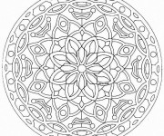 Coloriage dessin  Mandala Difficile 23