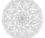 Coloriage dessin  Mandala Difficile 7