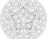 Coloriage Mandala difficile à décorer