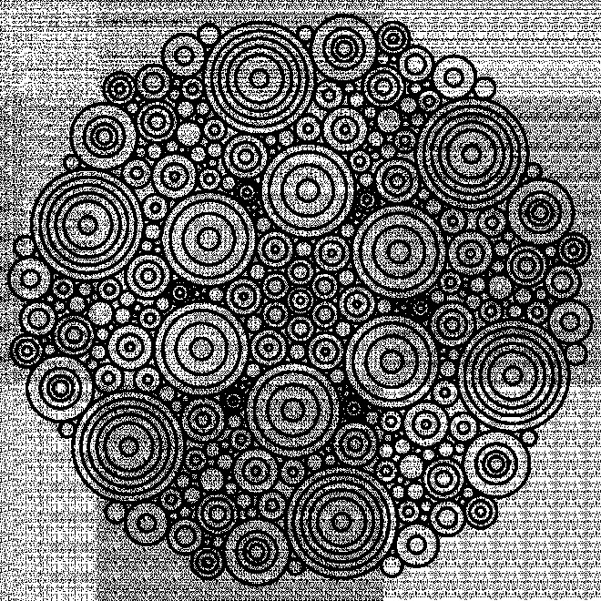 Coloriage et dessins gratuits Mandala Difficile Bulles à imprimer