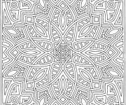 Coloriage Mandala Difficile en ligne