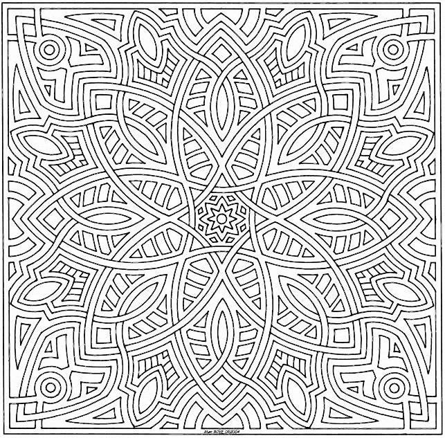 Coloriage et dessins gratuits Mandala Difficile en ligne à imprimer