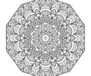 Coloriage Mandala Difficile maternelle