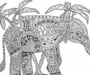 Coloriage Mandala Éléphant