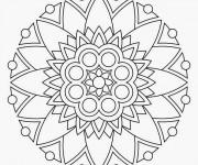 Coloriage Mandala en couleur