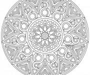 Coloriage Mandala en ligne Difficile