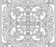 Coloriage Mandala en noir et blanc