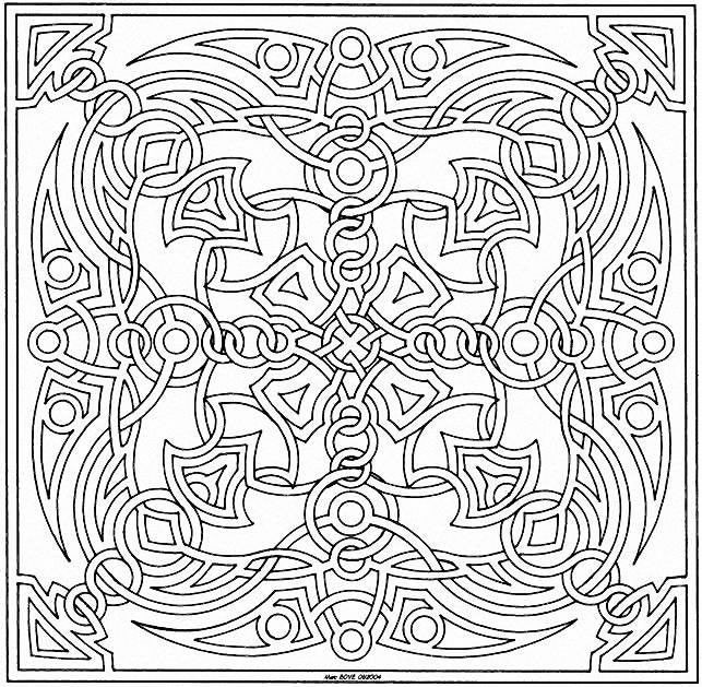 Coloriage et dessins gratuits Mandala en noir et blanc à imprimer