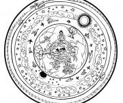 Coloriage Mandala et Paysage