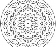 Coloriage Mandala Facile adorable