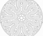 Coloriage et dessins gratuit Mandala Facile en ligne à imprimer