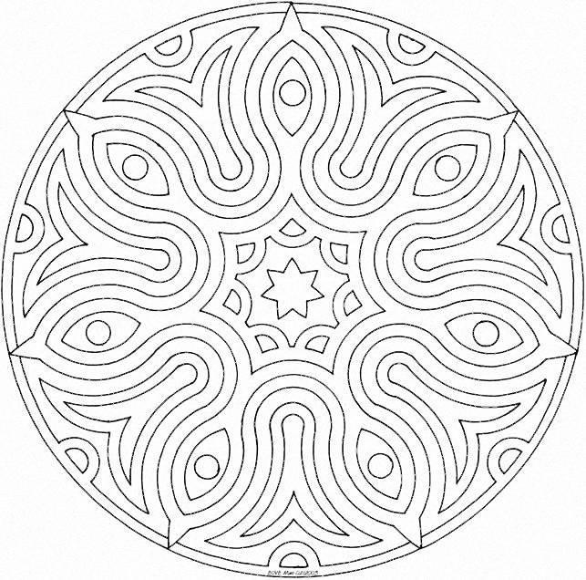Coloriage et dessins gratuits Mandala Facile en ligne à imprimer