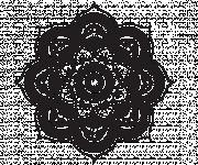 Coloriage et dessins gratuit Mandala Fleurs à télécharger à imprimer