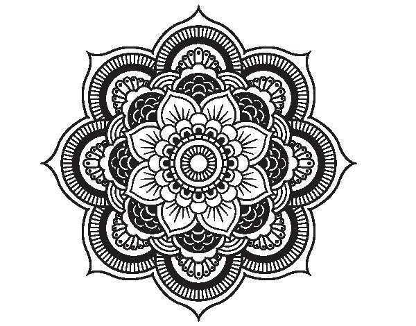 Coloriage et dessins gratuits Mandala Fleurs à télécharger à imprimer