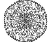 Coloriage et dessins gratuit Mandala Fleurs et Yeux à imprimer