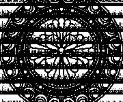 Coloriage Mandala hiver en noir et blanc