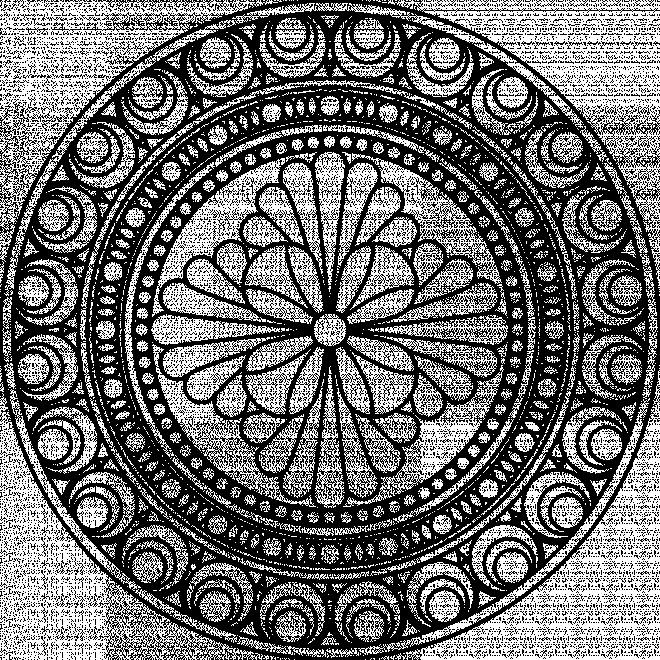 Coloriage et dessins gratuits Mandala hiver en noir et blanc à imprimer