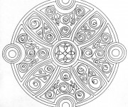 Coloriage Mandala maternelle