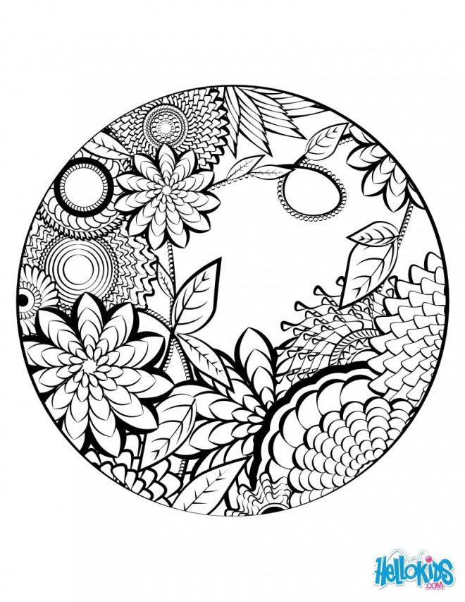 Coloriage et dessins gratuits Mandala Nature splendide à imprimer