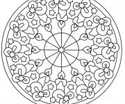 Coloriage Mandala Noel à colorier