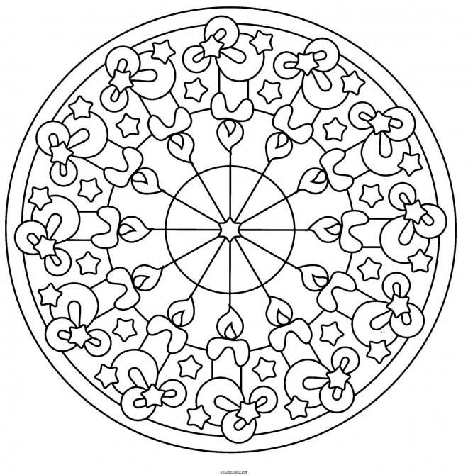 Coloriage et dessins gratuits Mandala Noel à colorier à imprimer