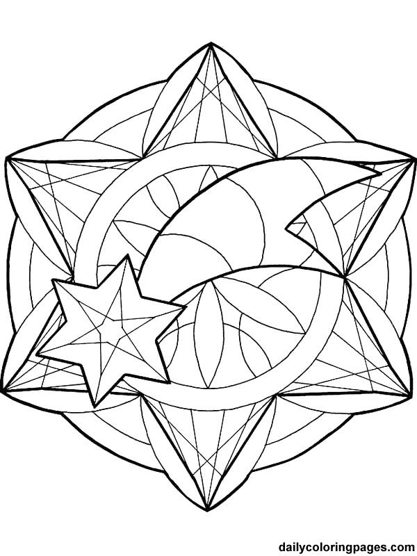 Coloriage et dessins gratuits Mandala Noel facile à imprimer