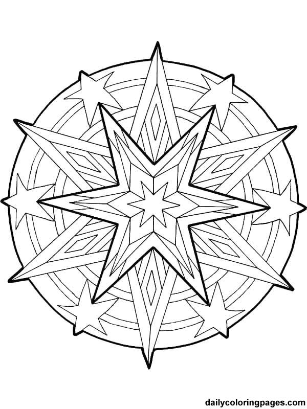Coloriage et dessins gratuits Mandala Noel vectoriel à imprimer